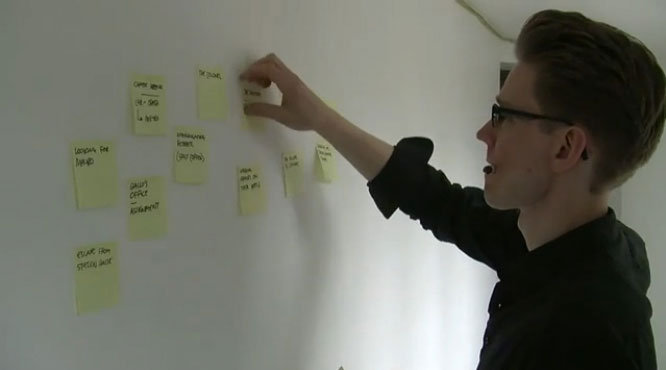 plan your story with post-its