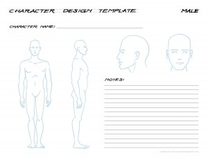 Manga character template images template design ideas for Manga character template