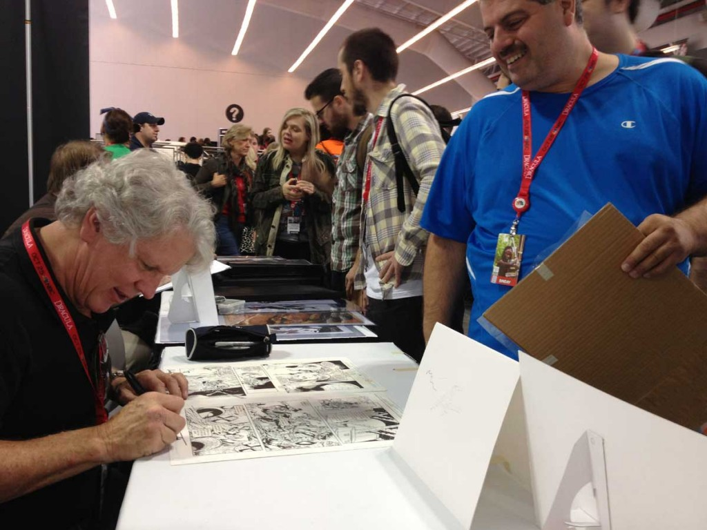 Tom Lyle signing for one of his long time fans at NYCC 2013